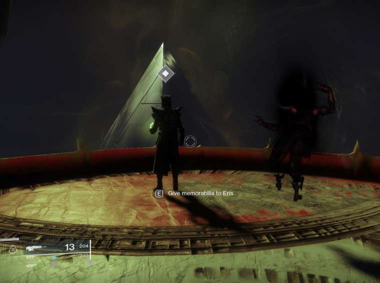 Passing the quest Memory of Eriana-3 in Destiny 2