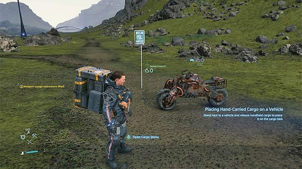 Vehicles in Death Stranding: how to get, charge and repair