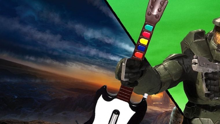 Halo 3 passed with the guitar from Guitar Hero. It took a month and 263 deaths