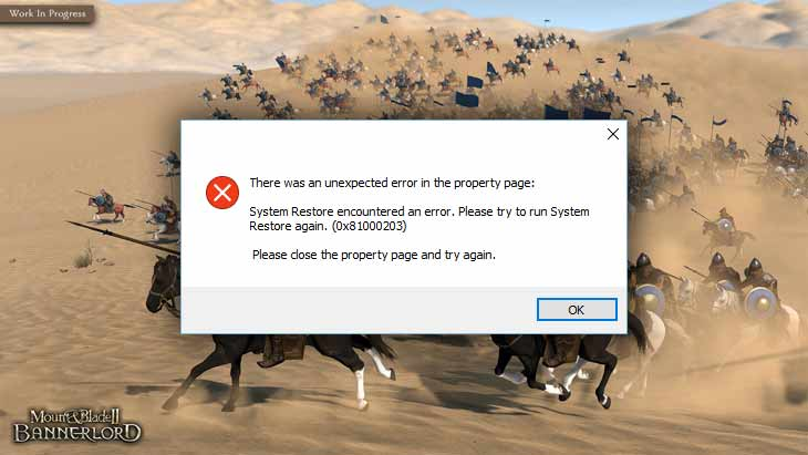 Errors and issues in Mount & Blade II: Bannerlord, how to fix?