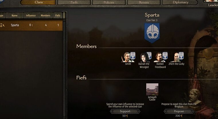 How to create your own kingdom and state in Mount & Blade II: Bannerlord