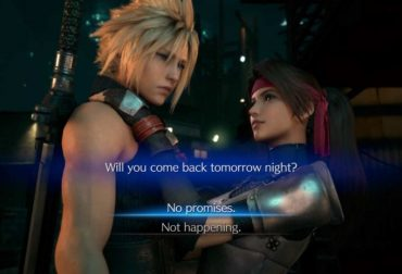 "What's Jesse's answer to the Final Fantasy 7 Remake date offer: ""No promises"" or ""Not happening""?"