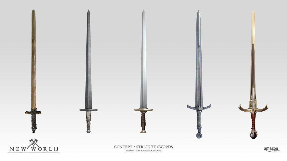 Weapons in New World Guide: Sword and shield.   GamexGuide.com
