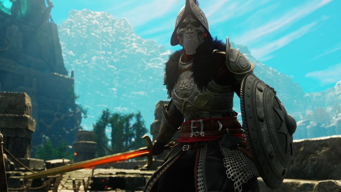 Weapons in New World Guide: Sword and shield.
