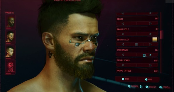 Character creation guide in Cyberpunk 2077